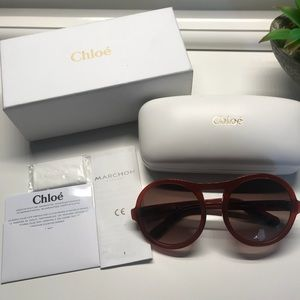 Chloe burnt Marlow sun glasses